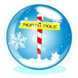North Pole Winter Globe Stock Photos