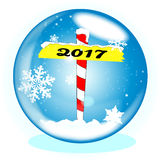 North Pole 2017 Winter Globe Stock Images