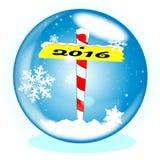 North Pole 2016 Winter Globe Stock Photography