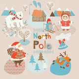 North Pole xmas background Stock Photography