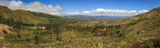 Hilly panorama of the North Province, Grande Terre, New Caledonia, Oceania. The North Province is one of three administrative subdivisions in New Caledonia. It Stock Photos
