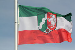North Rhine-Westphalia flag Stock Photography