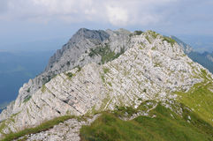 North ridge of Piatra Craiului mountains Royalty Free Stock Images