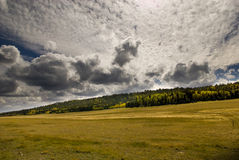 North Rim Cloudscape. Autumn cloudscape over a North Rim meadow near the entrance to Grand CAnyon National Park Stock Images
