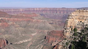 North Rim Grand Canyon Landscape Pan stock video footage