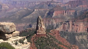 North Rim Grand Canyon Landscape Zoom Out stock video footage