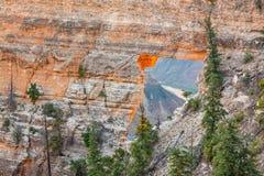 North Rim Grand Canyon Scenic Landscape Stock Image