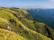North rim wall of Aso volcanic caldera. Kumamoto Prefecture, Japan royalty free stock images