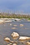 North river landscape. Stock Photos