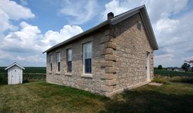 North River Stone Schoolhouse royalty free stock photo