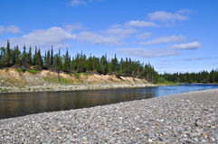 North river on a Sunny summer day. Stock Photography