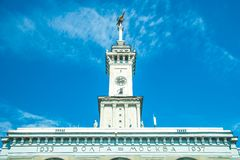 North river terminal in Moscow Royalty Free Stock Photos