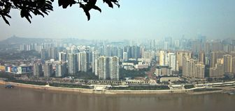 Riverside Road. 2012, the North Riverside Road in Chongqing, China Royalty Free Stock Images