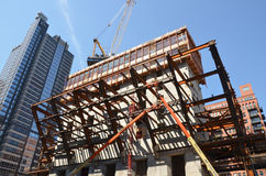150 North Riverside Structural Frame Royalty Free Stock Image