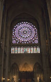 The North Rose window at Notre Dame cathedral on  March 14, 2012 in  Paris, France Royalty Free Stock Photos