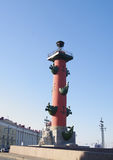 North Rostral column closeup, St.Petersburg, Russia Stock Photos