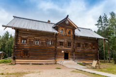 North Russian house. Old north Russian house with two floors Stock Photos
