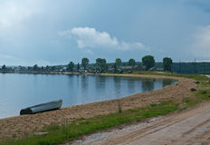 North Russian village Royalty Free Stock Images