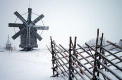 North Russian wooden architecture - open-air museum Kizhi, Karelia. KARELIA, KIZHI, RUSSIA - January, 2016: North Russian wooden architecture - open-air museum Stock Images