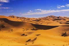 North Sahara Distant Desert Landscape Royalty Free Stock Images