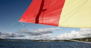 North Sailing in the fjords Stock Image