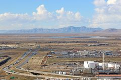 North Salt Lake, Utah. Freeway in North Salt Lake City, Utah Royalty Free Stock Image