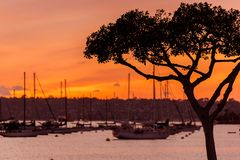 North San Diego Bay Sunset Stock Photo