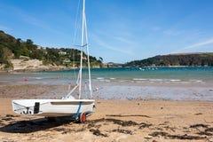 North Sands beach Salcombe Devon stock photos
