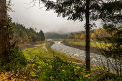 North Santiam river in fall Stock Photography