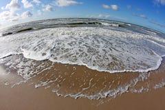 North sea. Photographed with fisheye stock photo