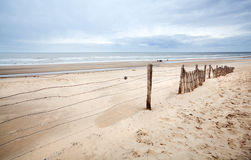 North sea. Sandy creamy beach on North sea cast royalty free stock photos