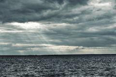 North sea. Cold north sea, sky covered with clouds Stock Images