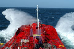 The North Sea. Boat in the North Sea Royalty Free Stock Image