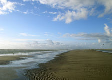 North sea. Beach with cloudy sky. Picture took in denmark royalty free stock photos