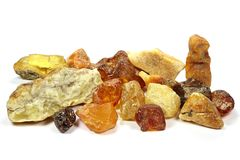 North sea amber stones Stock Images