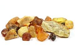 North sea amber stones Royalty Free Stock Photo