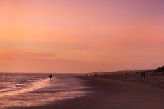 North Sea beach at dusk Stock Images