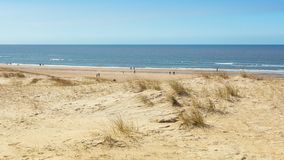 The North Sea beach between Ijmuiden and Bloemendaal in the Neth. Erlands Stock Image