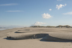 North sea beach of the island Terschelling in the Netherlands Stock Images