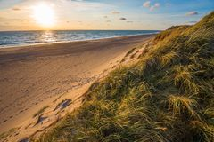 North sea beach, Jutland coast in Denmark royalty free stock photos