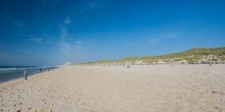 North Sea beach towards Westerland city on Sylt island Stock Images