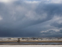 North Sea beach in Vejrs near Esbjerg in Denmark Stock Photo