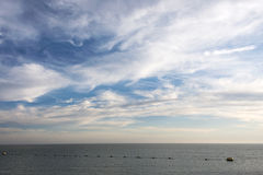North sea with clouds and blue sky Stock Photo