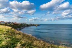 North Sea coast in Hartley, England, UK. North Sea coast in Hartley, Northumberland, England, UK stock photos