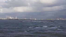 North Sea coast at IJmuiden stock video