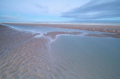North sea coast at low tide Royalty Free Stock Photography
