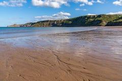 North Sea Coast in Runswick Bay, England, UK. North Sea Coast in North Yorkshire, England, UK - looking from Runswick Bay towards Kettleness royalty free stock images