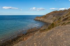 North Sea Coast in Kettleness, England, UK royalty free stock photography