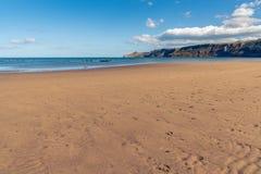North Sea Coast in Runswick Bay, England, UK. North Sea Coast in North Yorkshire, England, UK - looking from Runswick Bay towards Kettleness royalty free stock photo
