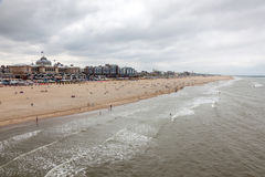 North Sea coast in Scheveningen, Holland Stock Photo